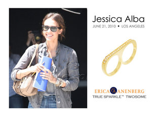 photo of Jessica Alba Sports A Twosome Ring In Hollywood, And You Can Win One This Week Only!