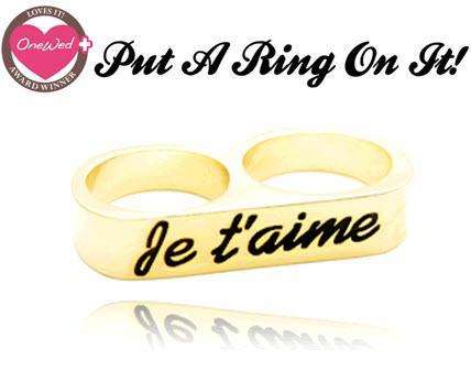 This designer ring is the trendy accessory, fitting on two fingers at once it's a most have for befo