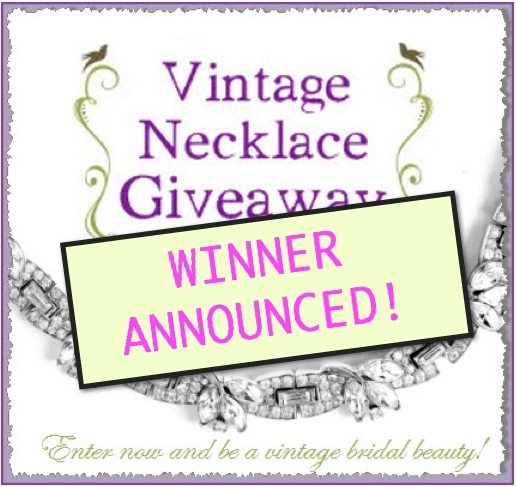 The winner of our Vintage Necklace Giveaway has been selected!!