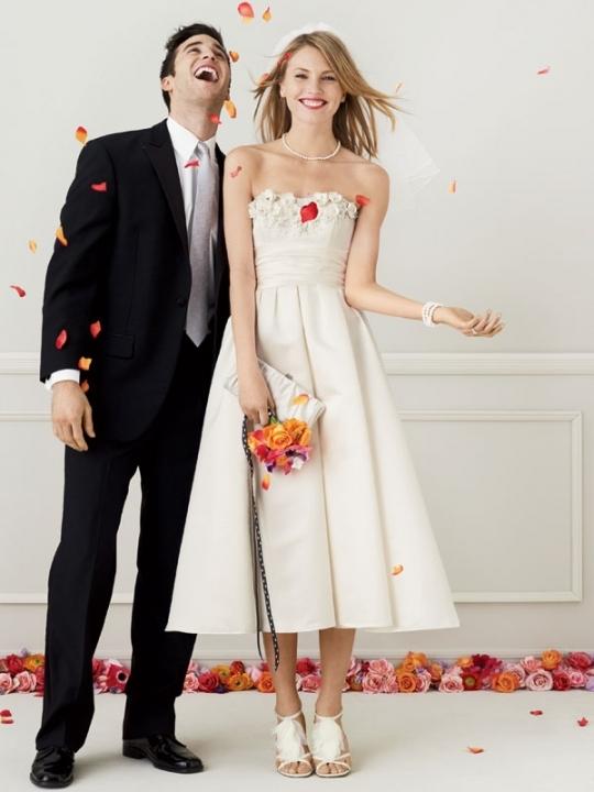 Galina-wg3165-strapless-ivory-wedding-dress-tea-length-cumberbund.full