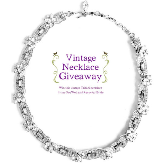 Be the first one to get 6 of your friends to enter our vintage necklace giveaway, and win a sexy Two