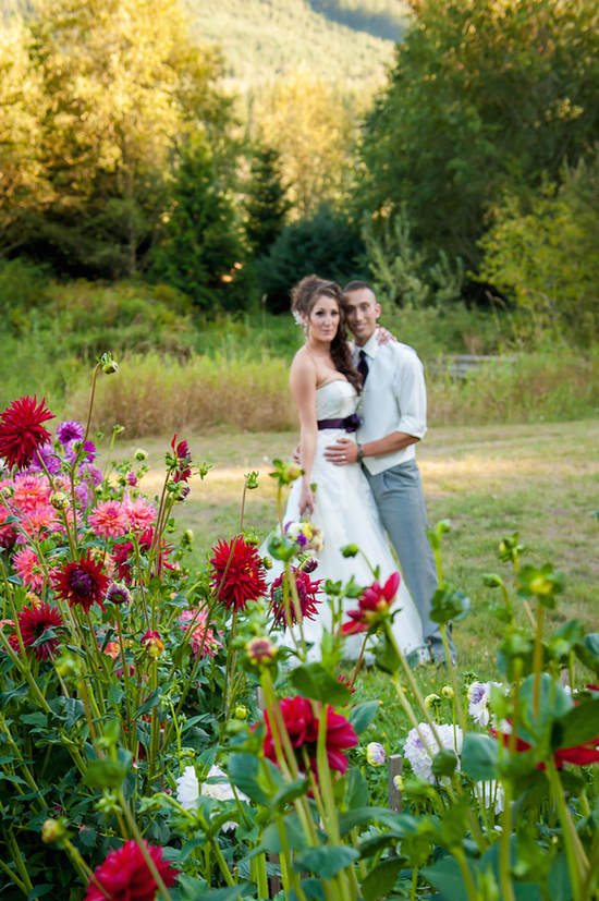 Real Couple Photographed in Wildflowers