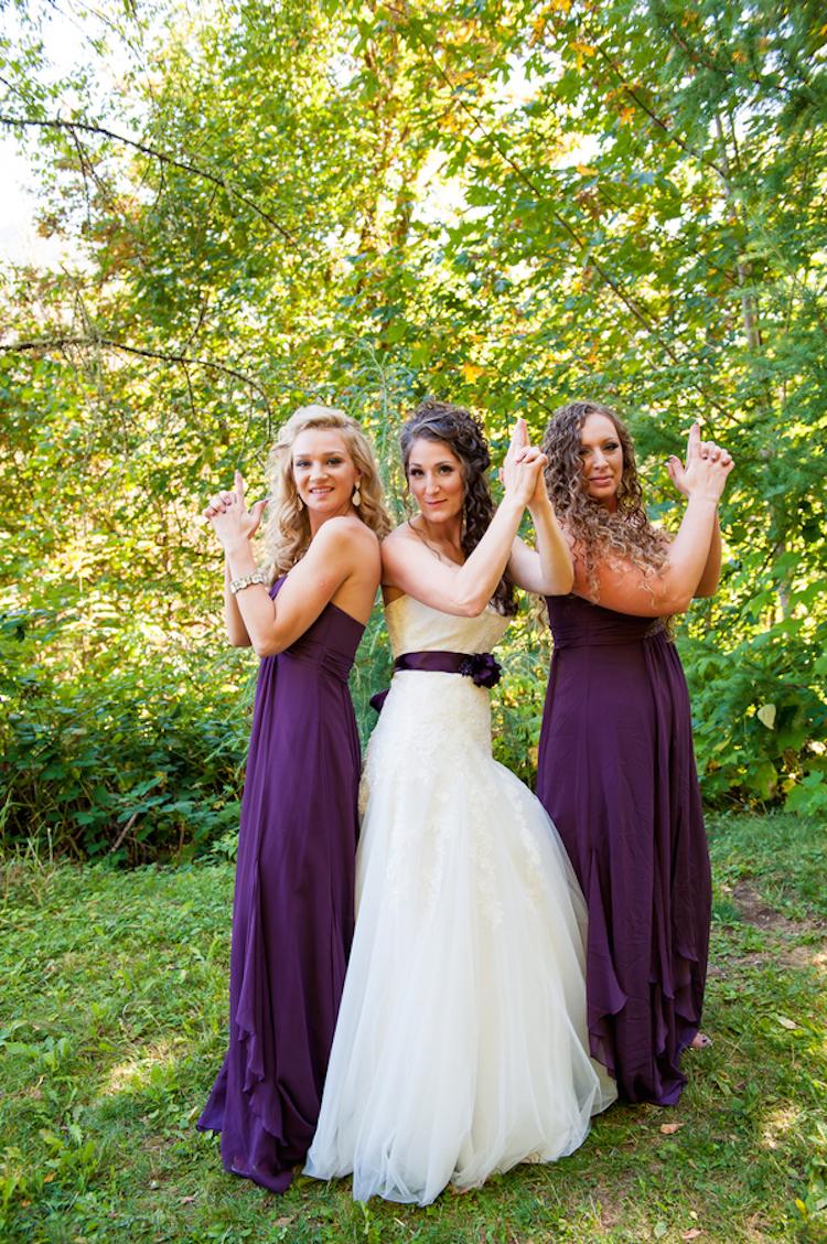Fun Bridesmaids And Bride Pose Full Jpg