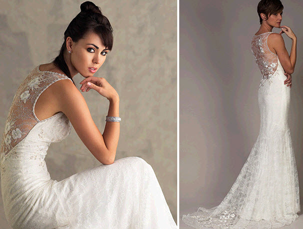 white mermaid liancarlo wedding dress with illusion fabric