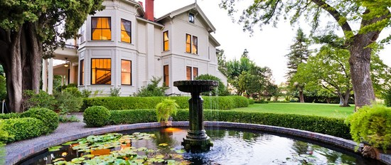 Fountain and Mansion