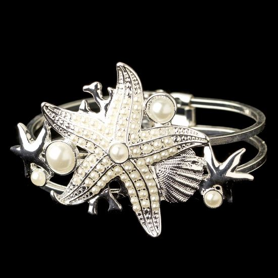 silver-diamond-white-pearl-beach-shell-starfish-bangle-bracelet-82029-4