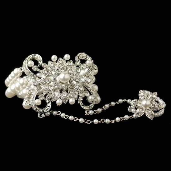 rhodium-white-pearl-rhinestone-floral-great-gatsby-stretch-bracelet-ring-76000-3