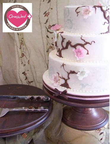photo of Win this gorgeous chocolate brown handmade cake stand!