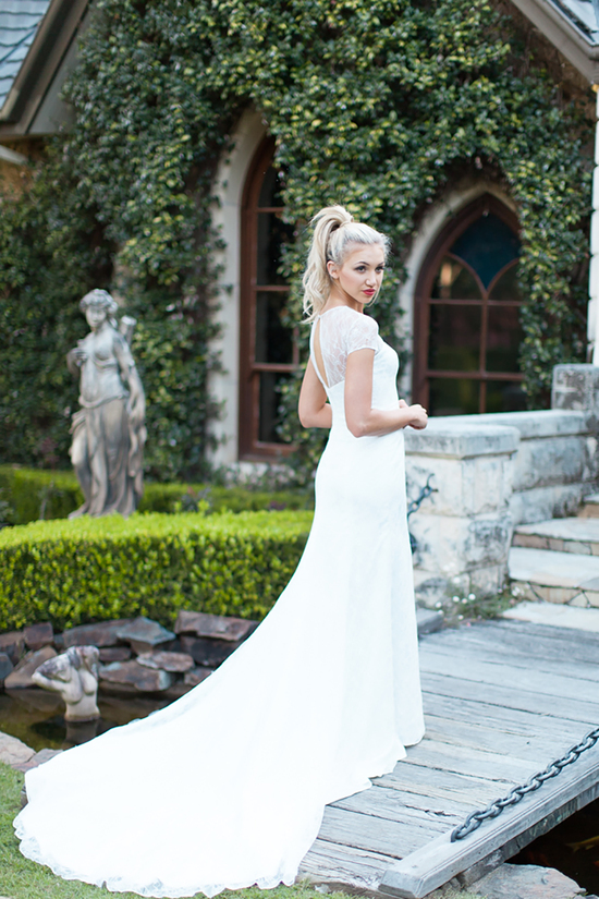 Brooke Lace Wedding Dress with Long Train