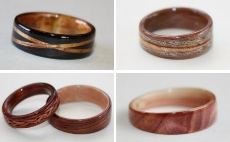 Hand Carved Wood Wedding Bands That Are Eco Friendly And Chic For Your Groom