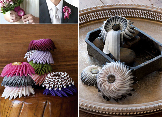 Grossgrain-ribbon-grooms-boutinnieres-fresh-flowers-alternative-unique-wedding-flower-ideas.full