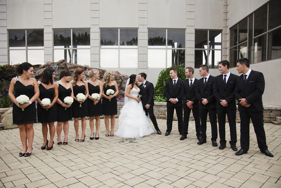 Classy Wedding Party in Black and White
