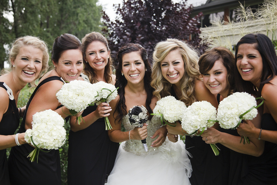 Beautiful Bride and Her Gorgeous Gals
