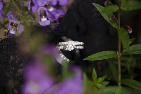 Pretty Diamond Engagement and Wedding Ring