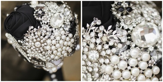 Bedazzled Pearl and Broach Bouquet
