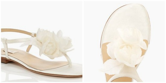 Kate Spade Fella Sandals with Flower Detail