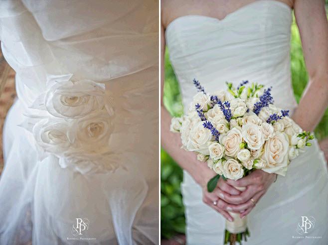 Ivory-classic-sweetheart-neckline-wedding-dress-floral-applique-ivory-violet-bridal-bouquet-flowers.full