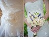 Ivory-classic-sweetheart-neckline-wedding-dress-floral-applique-ivory-violet-bridal-bouquet-flowers.square