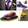 Groom-attire-accessories-wedding-cake-lakers-inspired-sports-wedding-purple-yellow.square