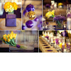 Sports-themed-chic-wedding-la-lakers-nba-purple-yellow-gold-color-palette-wedding-flowers.square