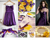 Chic-la-lakers-inspired-wedding-purple-bubble-dress-for-bridemaids-purple-gold-bridal-garter-accessories.square