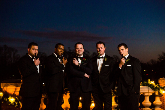 Classy Groomsmen With Smoking Pipes