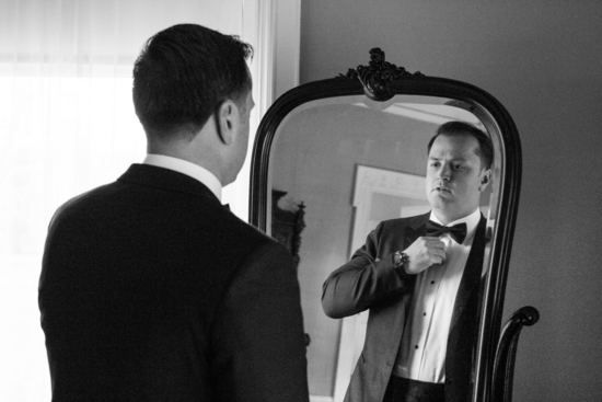Handsome Groom Getting Ready