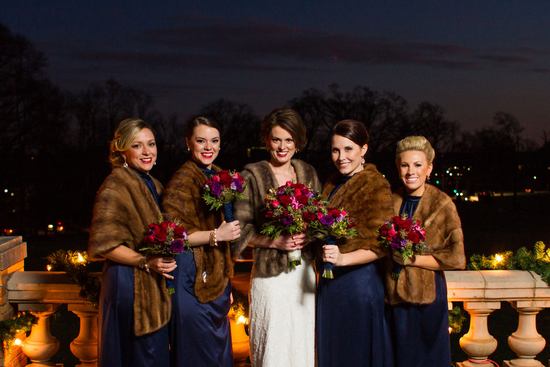 The Bride and Her Ladies in Fur Coats