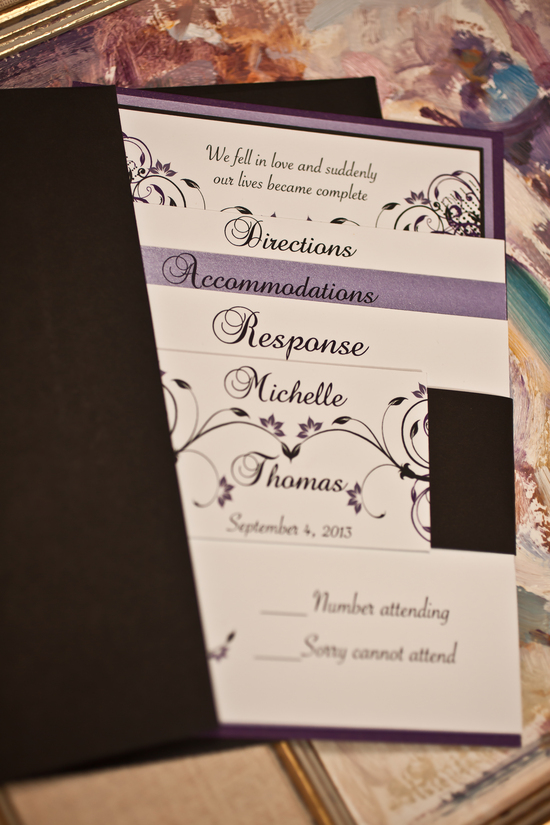 Michelle and Thomas wedding invite