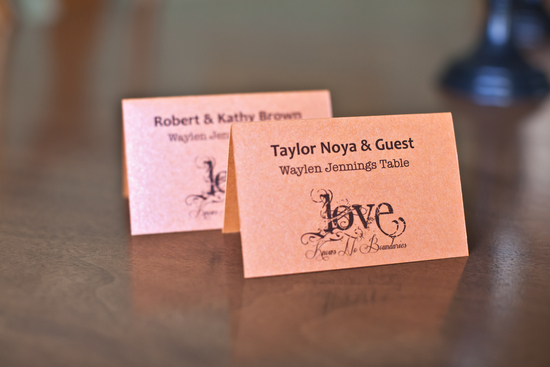 Country Love Escort Cards