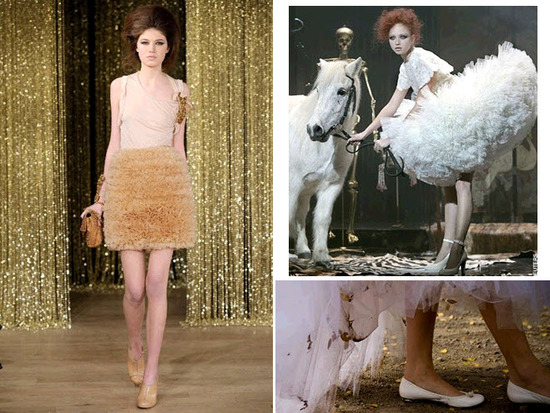 Ballet-Inspired fashion off the catwalk- loads of tulle, and ballet flats