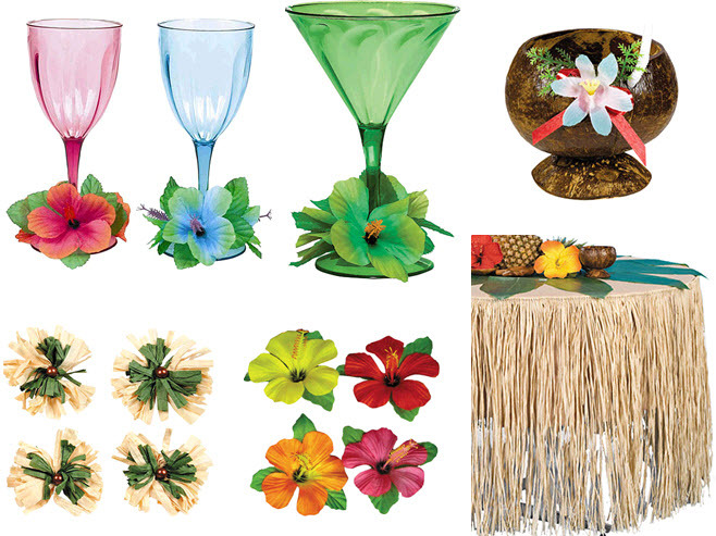Dress-up-your-beachside-hawaiian-tablescape-with-vibrant-flowers-and-festive-glasses.full