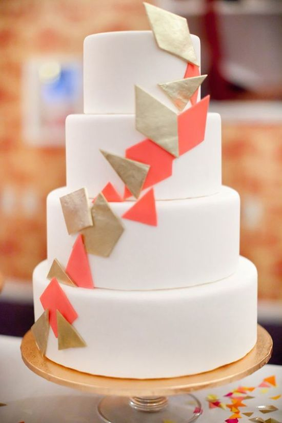 Contemporary and Graphic Wedding Cake