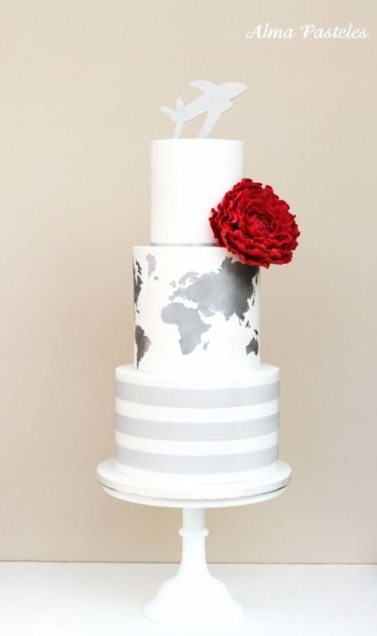 photo of Contemporary Wedding Cakes Almost Too Cool to Cut Into