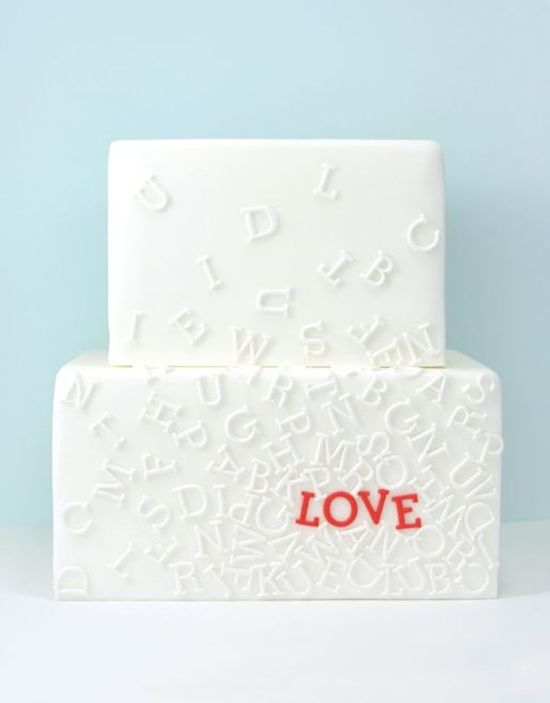 Typography Wedding Cake