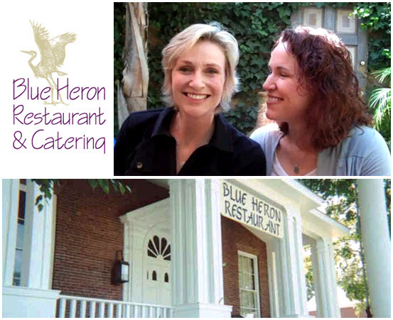 Glee star Jane Lynch chose sustainable restaurant Blue Heron for her intimate wedding