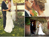 Bride-in-ivory-v-neck-a-line-wedding-dress-kisses-groom-after-saying-i-do-orange-boutinniere-and-bridal-bouquet.square
