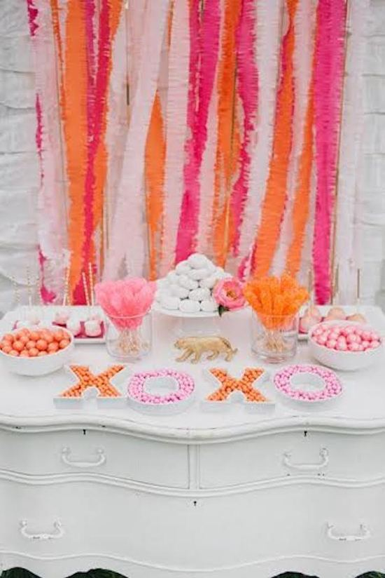 Neon Dessert Table Decor