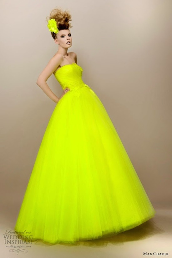 Neon Yellow Wedding Dress