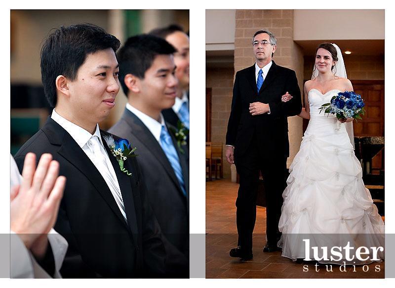 Groom-at-wedding-ceremony-in-black-formal-tux-white-tie-bride-walks-down-aisle.full