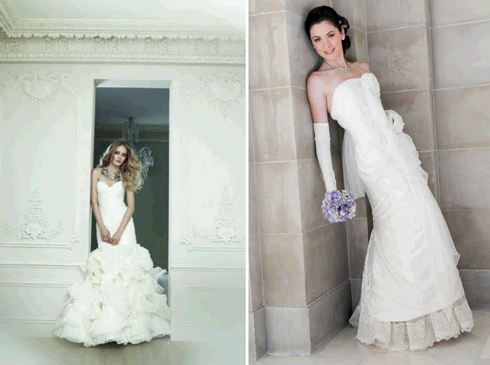 Mermaid wedding dresses by Rivini and Amy-Jo Tatum Couture