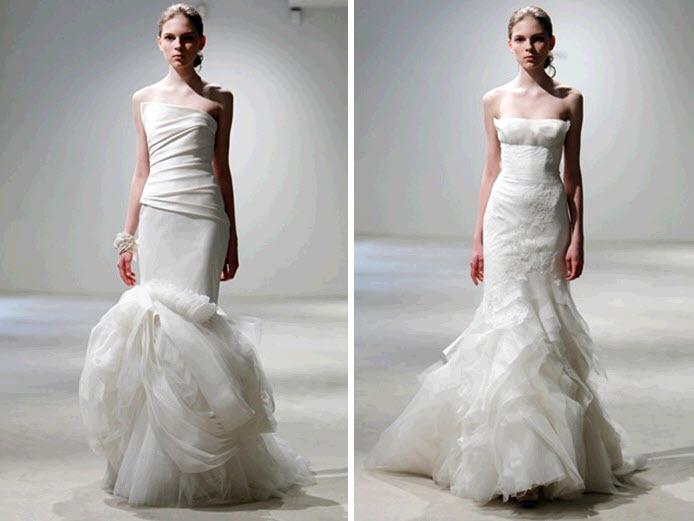 Modern mermaid wedding dresses by vera wang white modern mermaid wedding dresses by vera wang junglespirit Images
