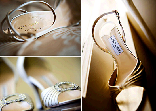 Jimmy Choo and Manolo Blahnik open toe bridal heels