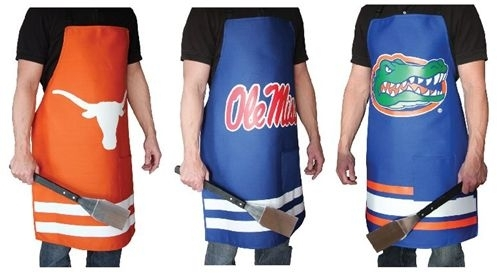 For NCAA College sports fanatics, these grilling aprons are the perfect gift