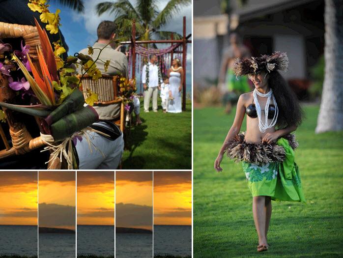 Hawaiian-destination-wedding-on-the-beach-sunset-romantic-low-key-wedding-ceremony.full