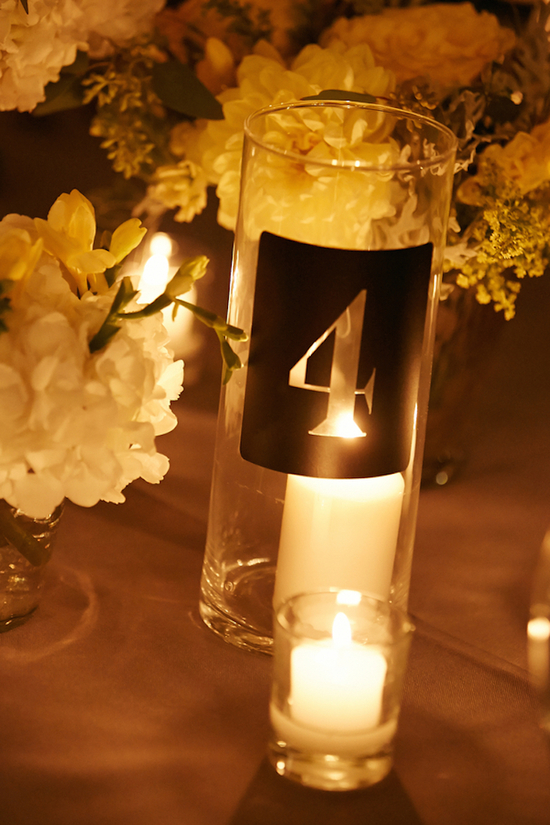 Table Number Candle Votives