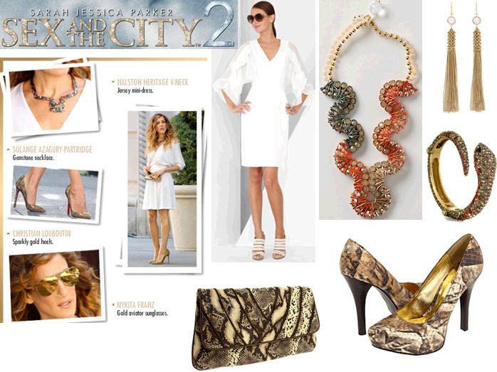 Sex-and-the-city-2-movie-bridal-style-fashion-carrie-bradshaw-look-gold-snakeskin-exotic-look.full