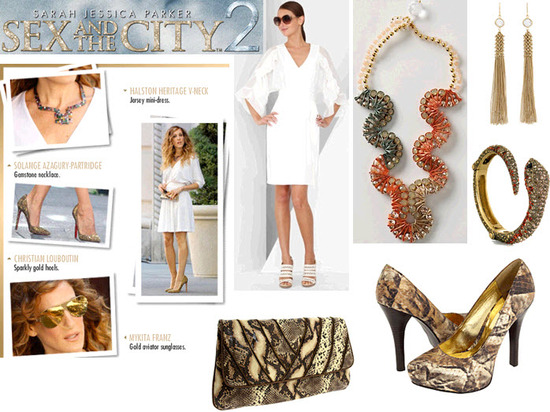 Steal Carrie's look from Sex And The City 2 for your bachelorette party