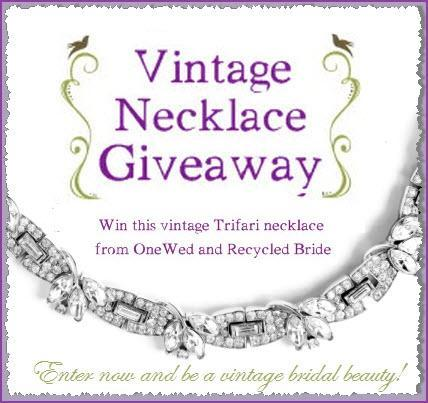 You could win this stunning vintage necklace.