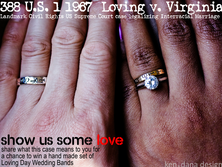 These beautiful wedding bands celebrate the legalization of interracial marriage in 1967.